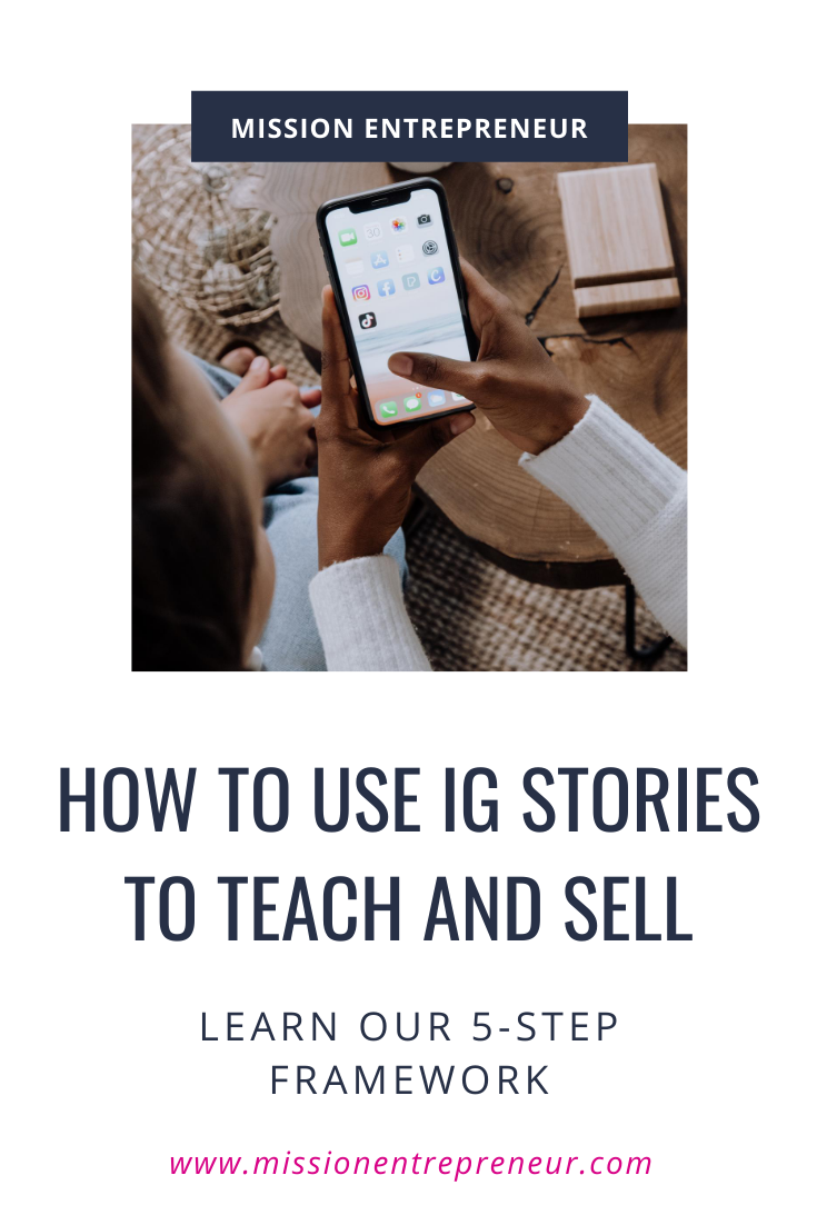 Swipe our 5 Slide Formula for using a simple Instagram Stories slideshow to teach and sell! #Instagramtips #instagram #socialmedia